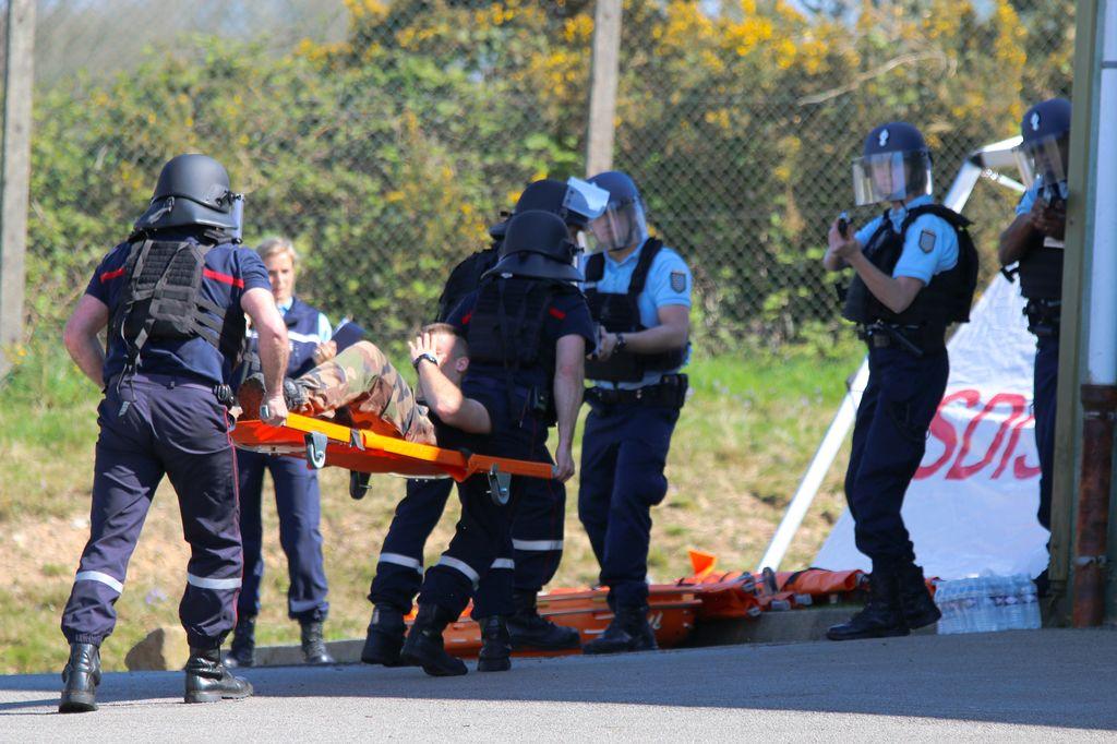 Exercice Alpha attentat Chateaulin 07042017 Yoann Quemeneur 26