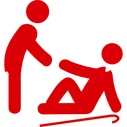 man lifting an old man