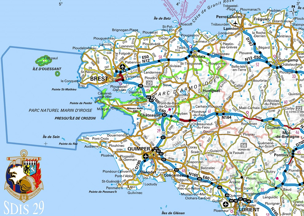 CARTE FINISTERE miniature